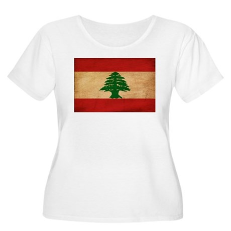 Lebanon Flag Women's Plus Size Scoop Neck T-Shirt