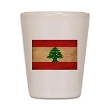 Lebanon Flag Shot Glass