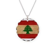 Lebanon Flag Necklace