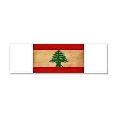 Lebanon Flag Car Magnet 10 x 3