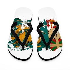 Saint Pierre and Miquelon Fla Flip Flops