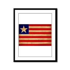 Liberia Flag Framed Panel Print