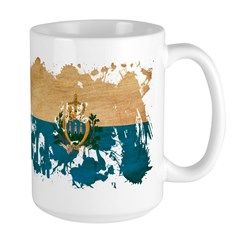 San Marino Flag Large Mug
