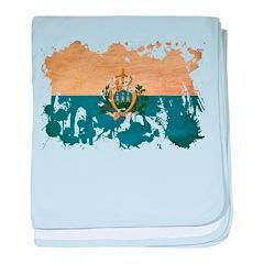 San Marino Flag baby blanket