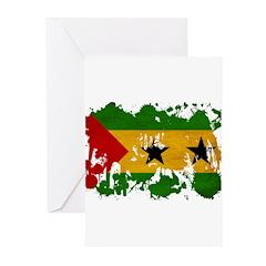 Sao Tome and Principe Flag Greeting Cards (Pk of 1