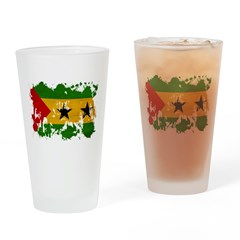 Sao Tome and Principe Flag Drinking Glass