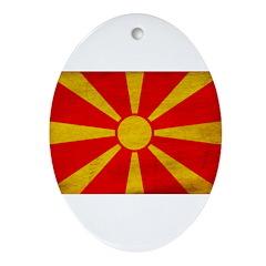 Macedonia Flag Ornament (Oval)