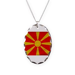 Macedonia Flag Necklace