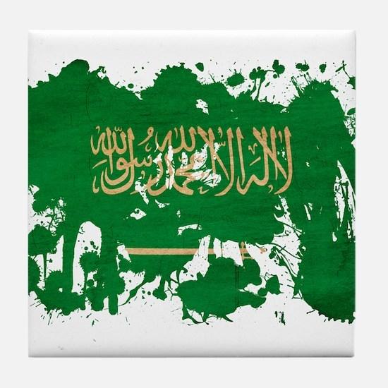 Saudi Arabia Flag Tile Coaster