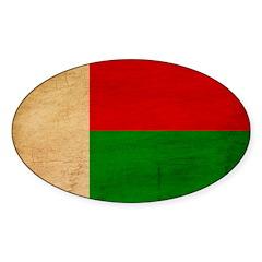 Madagascar Flag Sticker (Oval 50 pk)