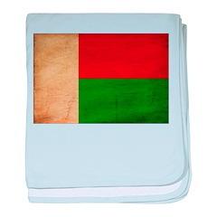 Madagascar Flag baby blanket