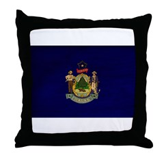 Maine Flag Throw Pillow