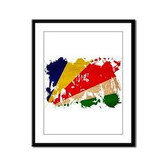 Seychelles Flag Framed Panel Print