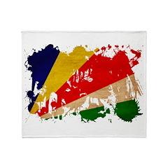 Seychelles Flag Throw Blanket