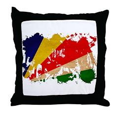 Seychelles Flag Throw Pillow