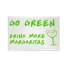 Go Green Margarita Rectangle Magnet