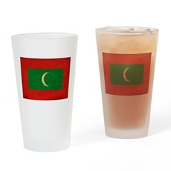 Maldives Flag Drinking Glass