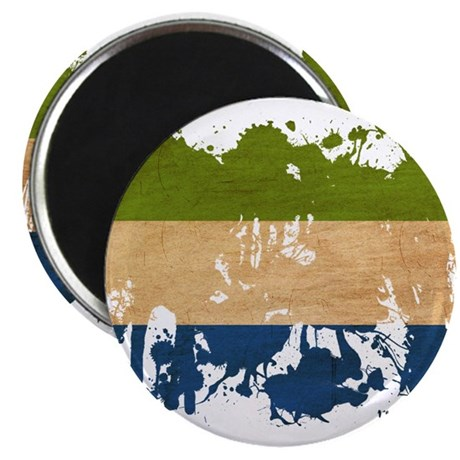 """Sierra Leone Flag 2.25"""" Magnet (10 pack)"""