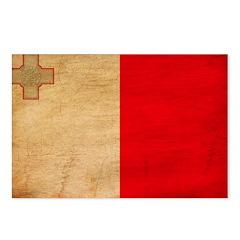 Malta Flag Postcards (Package of 8)
