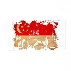 Singapore Flag Aluminum License Plate
