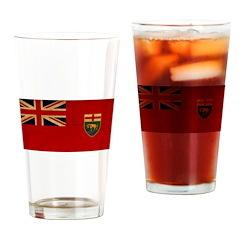 Manitoba Flag Drinking Glass