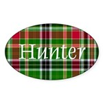 Tartan - Hunter Sticker (Oval 10 pk)
