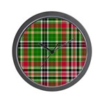 Tartan - Hunter Wall Clock