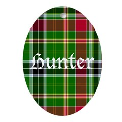 Tartan - Hunter Ornament (Oval)
