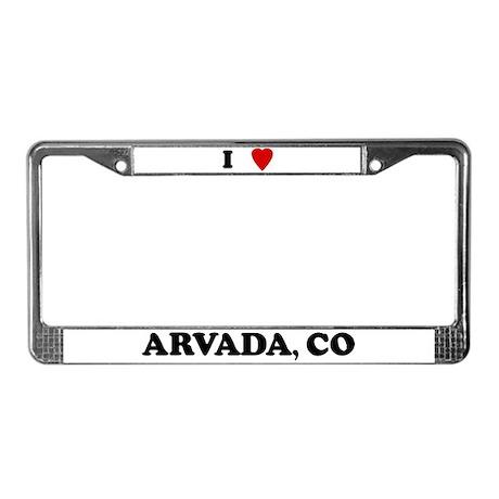 I Love Arvada License Plate Frame