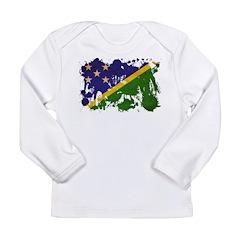 Solomon Islands Flag Long Sleeve Infant T-Shirt