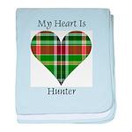 Heart - Hunter baby blanket