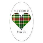 Heart - Hunter Sticker (Oval 50 pk)