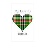 Heart - Hunter Sticker (Rectangle 50 pk)