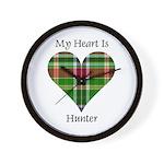Heart - Hunter Wall Clock