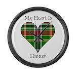 Heart - Hunter Large Wall Clock