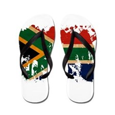 South Africa Flag Flip Flops