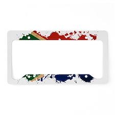South Africa Flag License Plate Holder