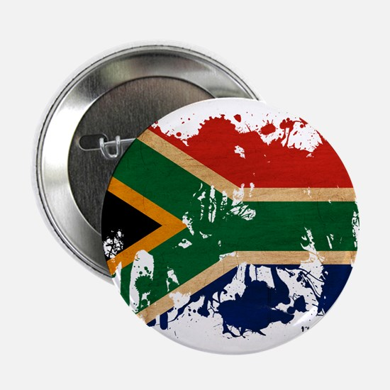 """South Africa Flag 2.25"""" Button"""