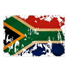 South Africa Flag Postcards (Package of 8)