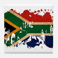South Africa Flag Tile Coaster