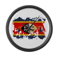Swaziland Flag Large Wall Clock