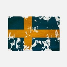 Sweden Flag Rectangle Magnet