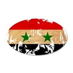 Syria Flag 38.5 x 24.5 Oval Wall Peel
