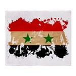 Syria Flag Throw Blanket