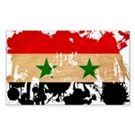 Syria Flag Sticker (Rectangle 10 pk)