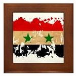 Syria Flag Framed Tile