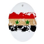 Syria Flag Ornament (Oval)