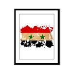 Syria Flag Framed Panel Print