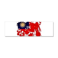 Taiwan Flag Car Magnet 10 x 3