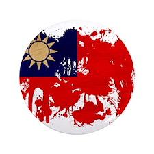 """Taiwan Flag 3.5"""" Button"""